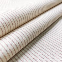 Curtain linings don't have to be plain! Lining Stripe Peony is a neutral cotton lining fabric that features multiple delicate-coloured pinstripes. With an extremely timeless yet simple design, it is perfect for adding a luxury finishing touch to any curtains or blinds. It will ensure that your curtains look as beautiful from outside your windows as they do from inside. This 100% cotton fabric is suitable for curtains, blinds and cushions. Curtain Lining Fabric, Lined Curtains, Curtains With Blinds, Striped Fabrics, Simple Designs, Peonies, Neutral, Cotton Fabric, Delicate