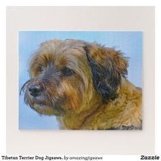 Tibetan Terrier Dog Jigsaws. Jigsaw Puzzle