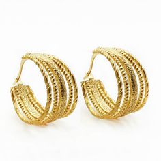 Find More Hoop Earrings Information about 2016yr Special Design Fashion Multi layer Hoop Earrings  Gold Plated 316 Stainless Steel Unisex Classic Jewelry Earrings,High Quality earrings costume jewelry,China jewelry bag Suppliers, Cheap earring chain from MSX Fashion Jewelry on Aliexpress.com