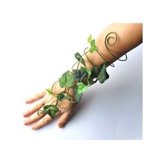 Poison ivy arm cuff slave bracelet green fairy arm cuff whimsical... ❤ liked on Polyvore featuring jewelry, bracelets, arm cuff jewelry, green bangles and green jewelry