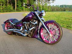 Big Dog Motorcycle, Motorcycle Design, Yamaha Stryker, Pink Bar, Harley Davidson V Rod, Chopper Bike, Yamaha Motorcycles, Biker Chick, Biker Style