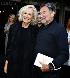 Glenn Close and Robin Williams during the opening night of the Mill Valley Film Festival at the Outdoor Art Club in MIll Valley, California, on Thursday, October 6, 2011. Credit:© Liz Hafalia/San Francisco Chronicle/Corbis