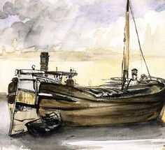 Édouard Manet (French, Barges 1874 watercolor painting on paper x cm x in) private collection Francisco Goya, Renoir, Claude Monet, Revolutionary Artists, Edouard Manet Paintings, French Impressionist Painters, Cruise Europe, Rocky Horror Picture, Post Impressionism