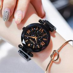 Luxury Women Watches Magnetic Starry Sky Female Quartz Wristwatch Fashion Bijoux et montres Trendy Watches, Elegant Watches, Beautiful Watches, Watches For Men, Unique Watches, Wrist Watches, Women's Watches, Girl Watches, Cheap Watches