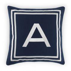 Decorative Home Textiles - Monogram Pillow Cover - A - 16X16 | C. Wonder