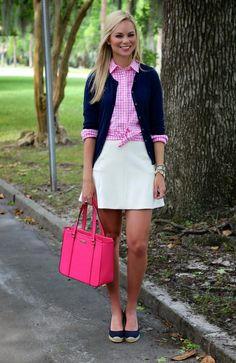 gingham and my favorite fluted skirt