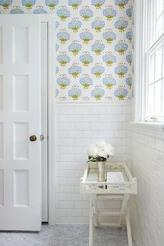 Bagno luminoso - Carta da parati con motivi per il bagno.