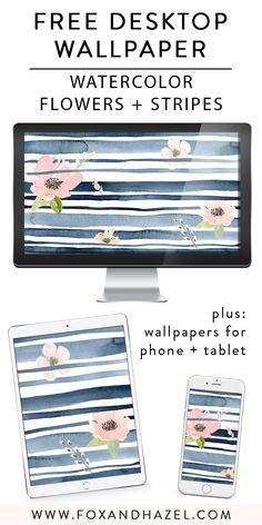 Free Spring Watercolor Desktop Wallpaper | Fox + Hazel