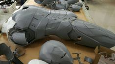 Iron Man Statue Printed Iron Man / Full Body Armors for Display Only Futuristic Armour, Iron Man Suit, Armor Concept, Body Armor, Black Suits, Mens Suits, Full Body, Cosplay Costumes, Character Art