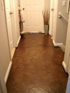 Paper Bag floors - Hallway Makeover