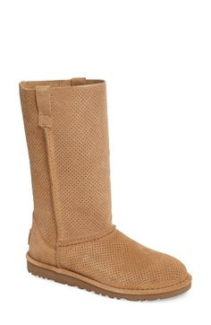 Free shipping and returns on UGG® Classic Perforated Boot (Women) at Nordstrom.com. Small perforations update a classic suede boot featuring a cushioned footbed and finished with a sturdy Treadlite by UGG™ sole that provides superior durability and traction on both wet and dry surfaces.