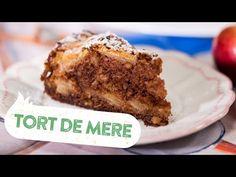 Reteta - Tort de mere   Bucataras TV - YouTube No Cook Desserts, Food Cakes, Banana Bread, Cake Recipes, Cooking Recipes, Sweets, Caramel, Youtube, Cakes