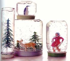 The Honorable Mention Preschool Blog: Homemade Snow Globes For Preschoolers