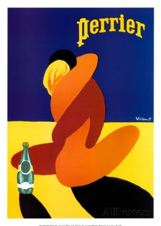Perrier Posters par Bernard Villemot sur AllPosters.fr