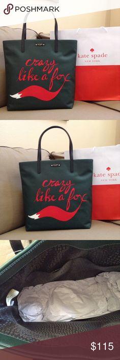KATE SPADE FOX BON SHOPPER TOTE Brand new with tags Kate spade crazy like a fox Bon shopper tote. Smoke /pet free home. kate spade Bags Totes
