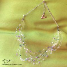 HobbysSimo: Un dono a sorpresa #3 - Collana in filo di nylon con perline