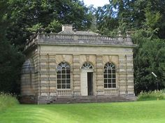 Banqueting House locatede in the water garden. Studley Royal Park. England