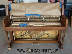Tutorial on how to refinish a piano!