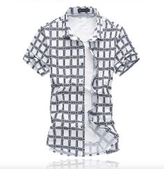 on sale 85ff1 61769 Mens Short Sleeve Checkered Shirt Casual Shirts For Men, Men Casual,  Fashion 2017,