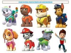 Paw Patrol Centrepieces or Photo Booth Props Printable found at www.instantpartypacks.com.au