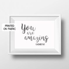 -You are amazing. Remember that- Motivational & inspirational quote for the office. Hand printed on fabric by My Home and Yours. World wide shipping. Office Motivational Quotes, Office Quotes, Inspirational Quotes, Colorful Interior Design, Boost Creativity, Work Motivation, Handprint Art, You Are Amazing, Office Decor