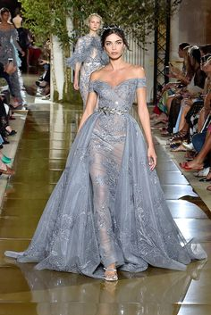 This dress from Couture Week is literally taking our breath away Glamour Fashion, Women's Runway Fashion, Couture Fashion, Couture Week, Beautiful Gowns, Beautiful Outfits, Zuhair Murad, High Fashion Dresses, Cinderella Dresses