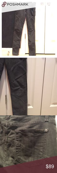 7 for all mankind skinny jeans Charcoal skinny jeans with seam design 7 For All Mankind Jeans Skinny