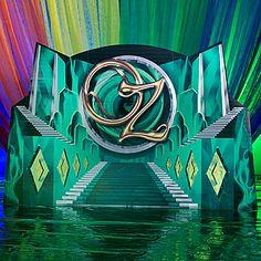 Emerald City Stairway Background