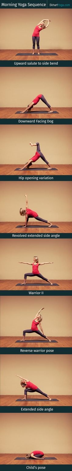 Wake up happy - a morning yoga sequence www.ekhartyoga.com