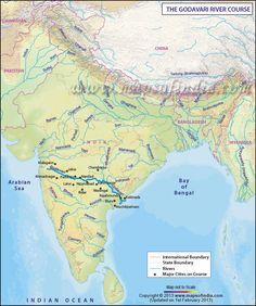 Godavari River Map