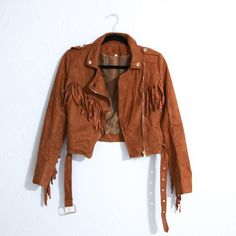 Suede Fringe Jacket In excellent condition. Suede like with a pretty fringe detail. Not Nasty Gal. Just tagged for exposure. Nasty Gal Jackets & Coats Utility Jackets