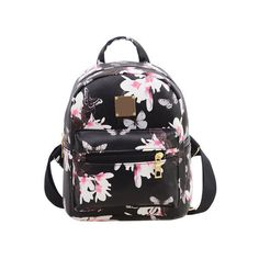 Women s Backpack Hot Sale Fashion Causal Floral Printing Backpacks PU  Leather Backpack For Teenagers Girls Mochilas MujerBolas 25529faf5