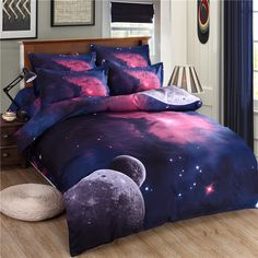 UNIKEA Galaxy bedding sets Twin/Queen Size Universe Outer Space Themed Bedspread Bed Linen Bed Sheets Duvet Cover S. Category: Home & Garden. Subcategory: Home Textile. Product ID: