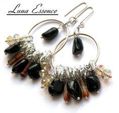 Black Onyx and Carnelian Bohemian Hippie Chick by LunaEssence, $36.00