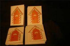 Meri Meri Ginger Bread House 6 holiday gift tag envelope Sale $15