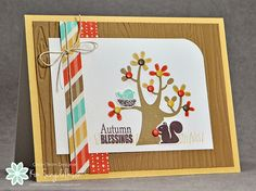 Autumn Blessings from Joyful Creations with Kim using stamps from Stampin' Up.