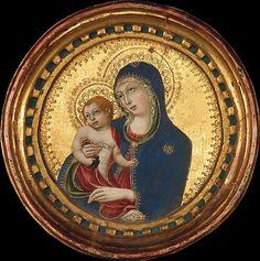 Sano di Pietro - Madonna e Bambino - metà del 15 ° secolo - tempera su tavola, fondo oro - The Metropolitan Museum of Art, New York