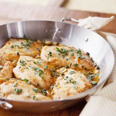 This Sauteed Chicken with Herbed Pan Sauce is amazing.