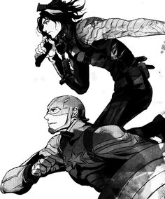 The Winter Soldier and Captain America  http://neomelodrama.tumblr.com/