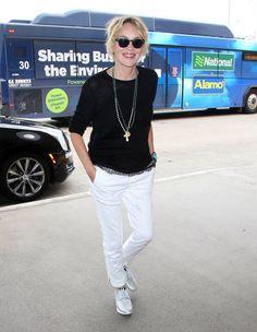 Sharon Stone Photos - Sharon Stone Catches a Flight at LAX - Zimbio