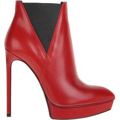 SAINT LAURENT Boots (€745) ❤ liked on Polyvore featuring shoes, boots, ankle booties, heels, ankle boots, booties, heeled ankle boots, platform heel booties, platform booties and high heel ankle booties