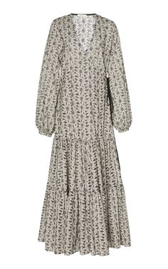 Floral Broderie Anglaise Cotton Maxi Dress by MATIN Now Available on Moda Operandi Japanese Cotton, Women Wear, High Neck Dress, Formal, Casual, Clothes, Fasion, Sassy, Dresses