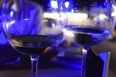 Blue dinner details