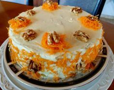 Greek Desserts, No Cook Desserts, Sweets Recipes, Greek Recipes, Carrot Cake Cheesecake, Cheesecake Recipes, Fun Cooking, Cooking Recipes, Greek Cake