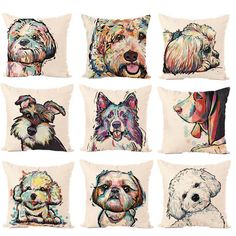 Cheap comfort pillow, Buy Quality pillow directly from China can cover Suppliers: Cute Dog Series Linen Pillow cover Stylish Exquisite High-Quality Home Comfortable pillowcase Variety Dog Patterns Can Choose