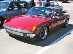 Porsche 914 with polished rim Fuchs. (Click on photo for high-res. image.) Photo found here: http://das914.tumblr.com/post/29263417929