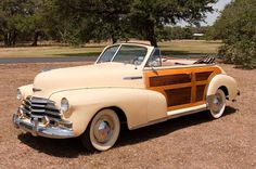 1947 Chevy Fleetmaster Country Club convertible.