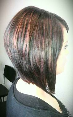 Medium Length hairstyles 2016 discuss the trendiest hairstyles for the New Year. It also gives you step-by-step instructions on how to create each hairstyle. Hair Styles 2014, Medium Hair Styles, Short Hair Styles, Medium Layered Haircuts, Inverted Bob Hairstyles, Triangle Haircut, Graduated Haircut, New Hair Do, Stylish Haircuts