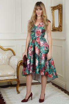 Mimi Multi Colour Floral Dip Dress