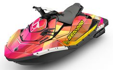 Sea-Doo SPARK Graphics - SunburstCustomizing your Sea-Doo Spark graphics is easy and allows you to work directly with our designers for Unlimited control. Seadoo Jetski, Jet Skies, Boat Wraps, Sport Boats, Custom Wraps, Four Wheelers, Boat Stuff, Water Crafts, Dream Cars